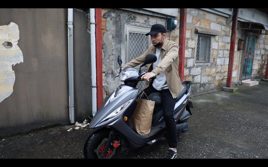 潘柏希拍「多情城市」時發生意外。圖/民視提供