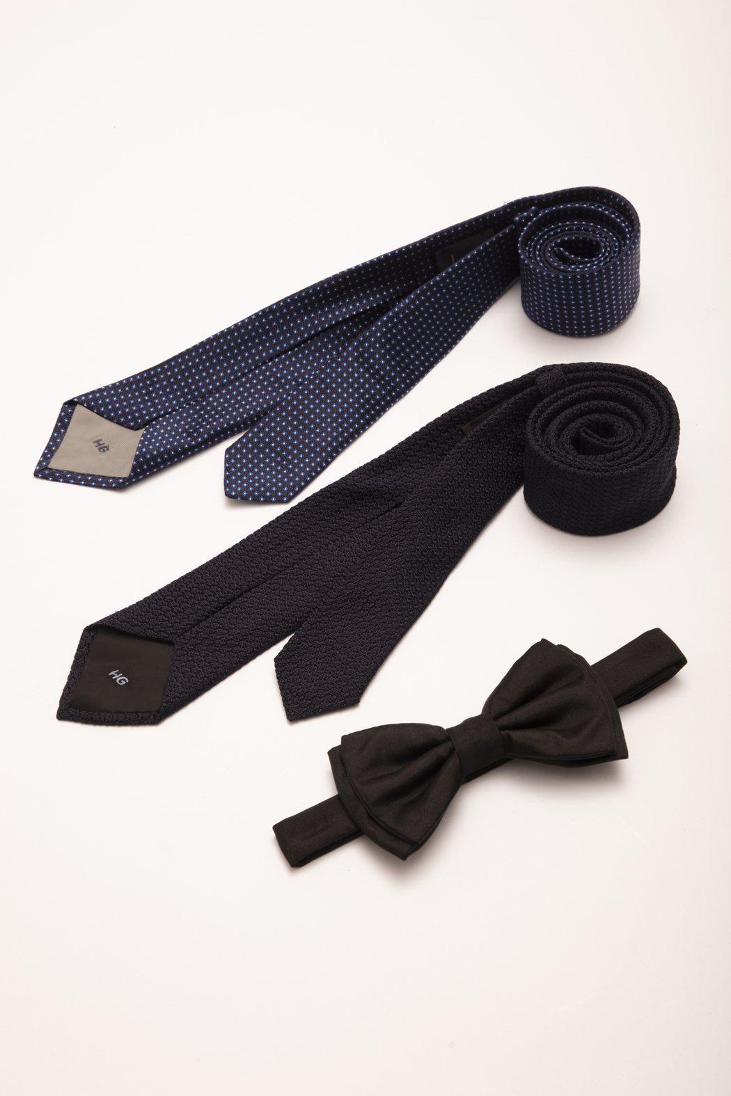 婚禮的領帶、領結飾有韓庚英文名字首字母的「HG」字樣。圖/BOSS提供
