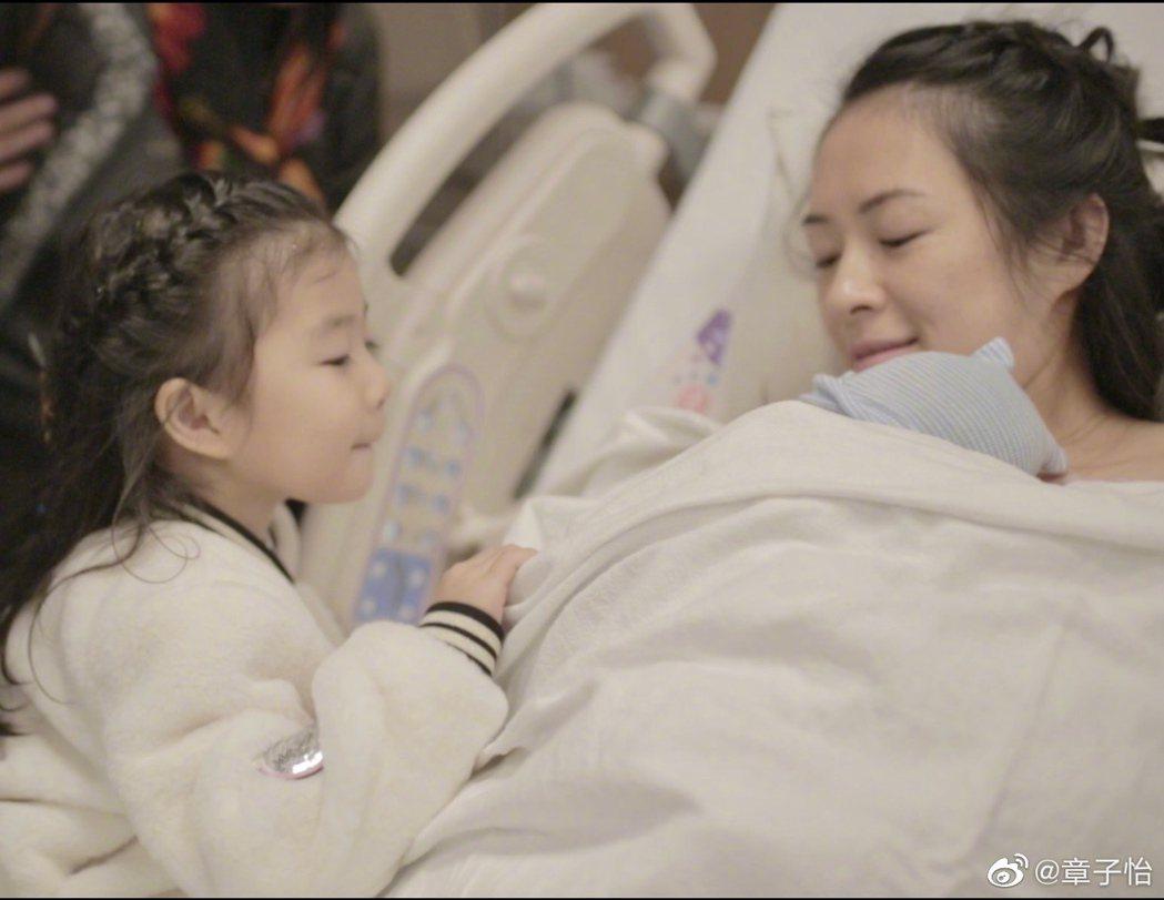 章子怡宣布產下第二胎。圖/擷自章子怡微博
