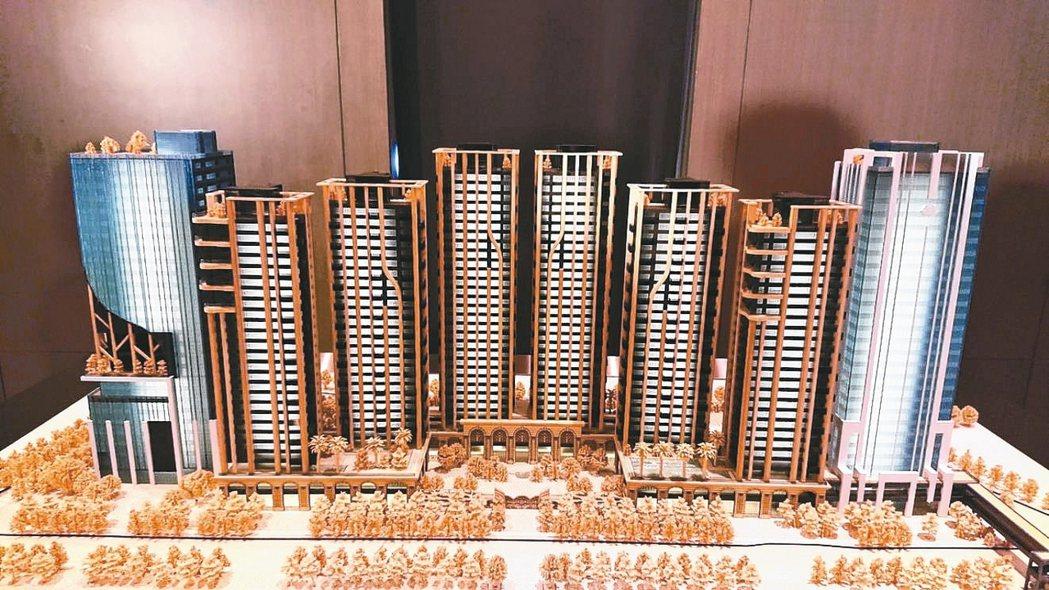 「南港世界明珠」案規劃模型外觀。 本報系資料庫