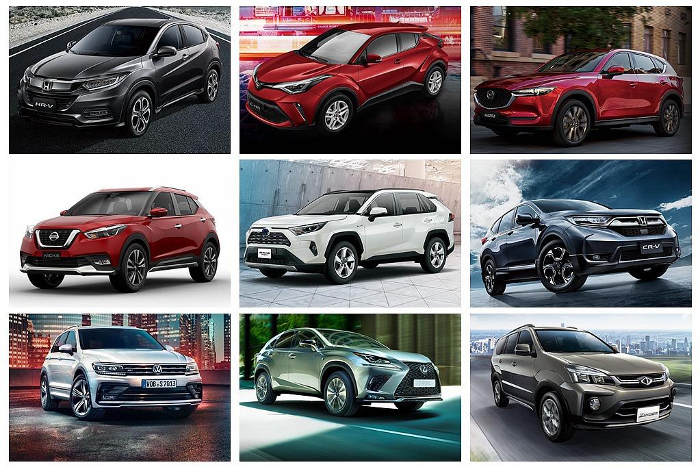 Toyota RAV4領軍,進口品牌強勢過半!台灣2019年休旅銷售Top 10