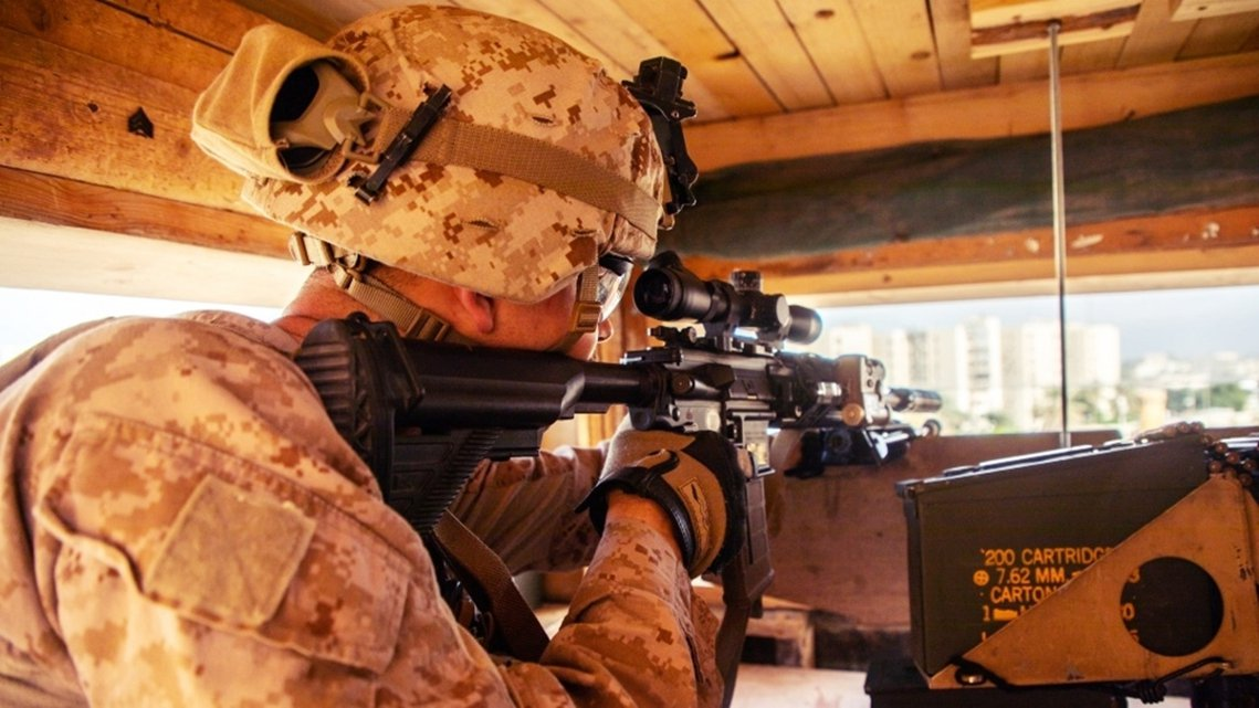 美國海軍陸戰隊在巴格達美國大使館圍攻事件後,前來馳援。 圖/法新社
