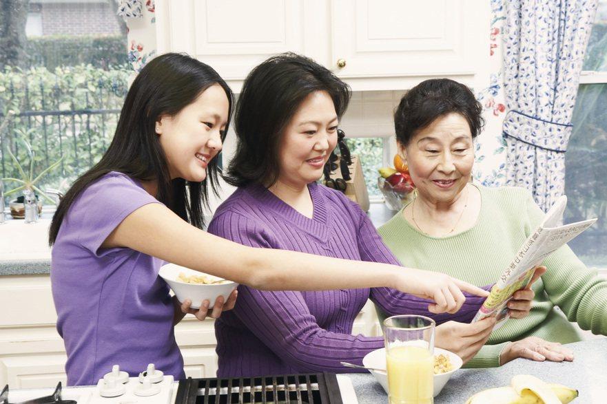 家人團聚是幸福的,共同生活的家人應該主動分工幫忙。 圖/ingimage 提供