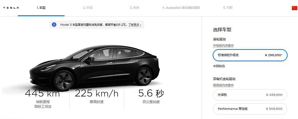 中國特斯拉官網針對Model 3再調降9%,中國當地售價只要299,050元人民...