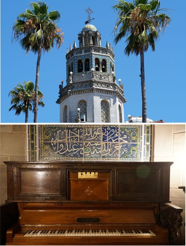 屋頂上的鐘樓,由一樓的鋼琴來演出。