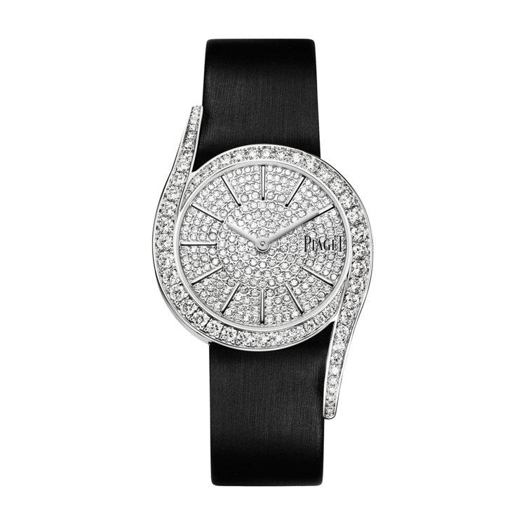 PIAGET,Limelight Gala系列18K白金高級珠寶鑽石腕表,162...
