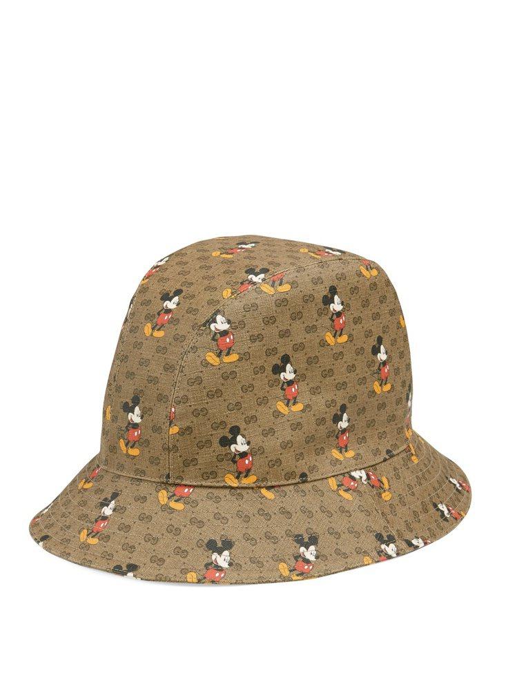 米奇印花漁夫帽,售價12,300元。圖/GUCCI提供
