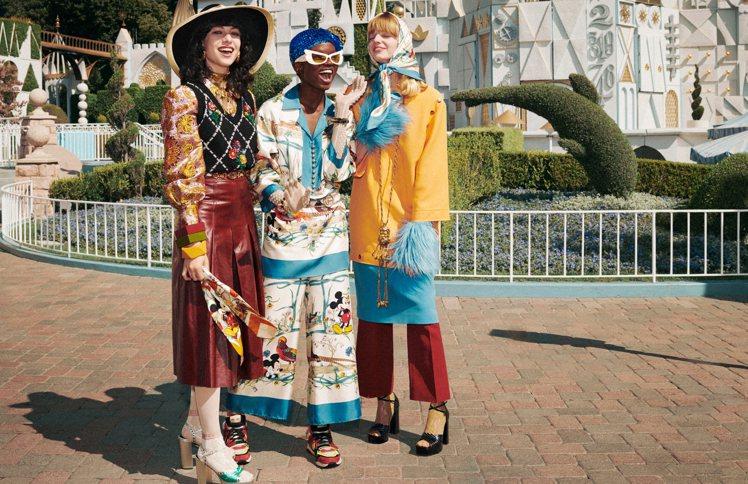 GUCCI 2020新年形象廣告在加州迪士尼樂園拍攝。圖/GUCCI提供