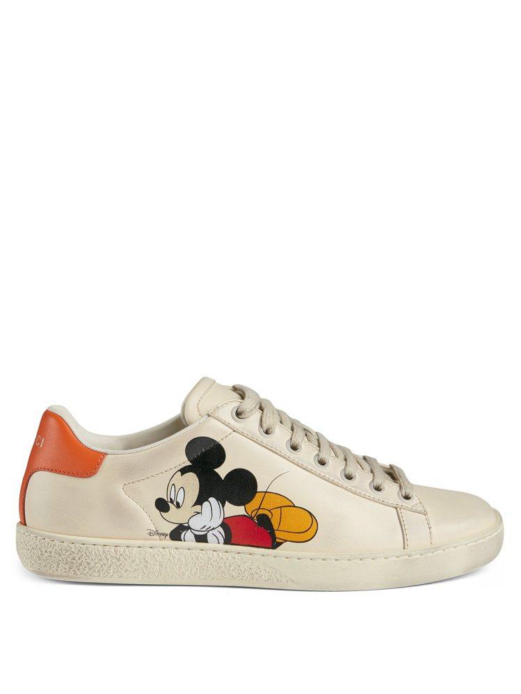 NEW ACE系列米奇休閒運動鞋,售價28,700元。圖/GUCCI提供