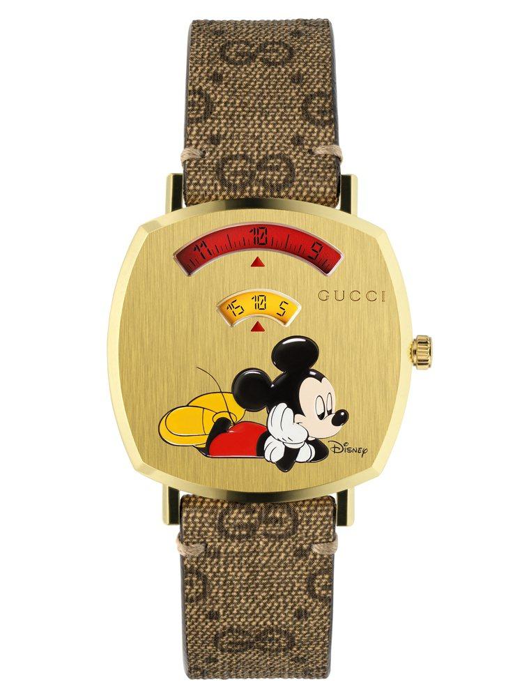 Grip系列米奇腕表,售價53,000元。圖/GUCCI提供
