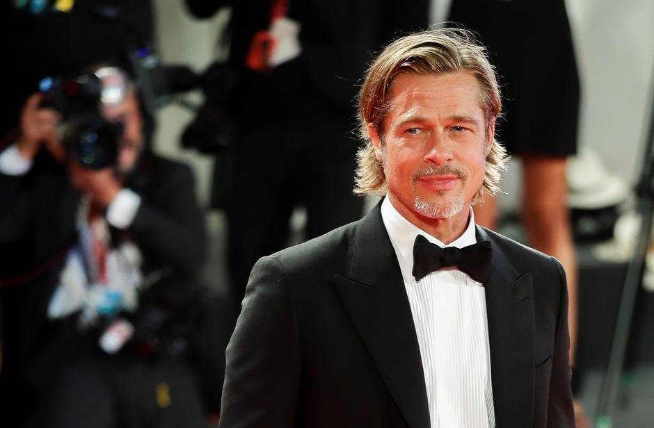 布萊德彼特獲本屆金球獎最佳電影男配角呼聲極高。圖/歐新社資料照片