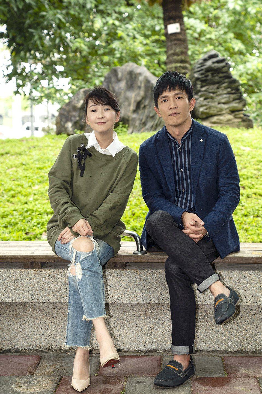 六月(左)客串「天堂的微笑」與黃尚禾演出對手戲。圖/TVBS提供