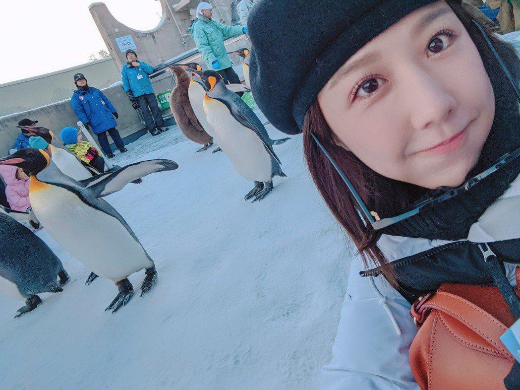 邵雨薇到北海道一個人旅行。圖/多曼尼提供