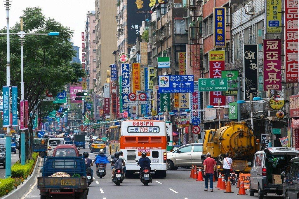 圖為板橋中山路街景,與新聞內容無關。本報系資料照/記者王騰毅攝影
