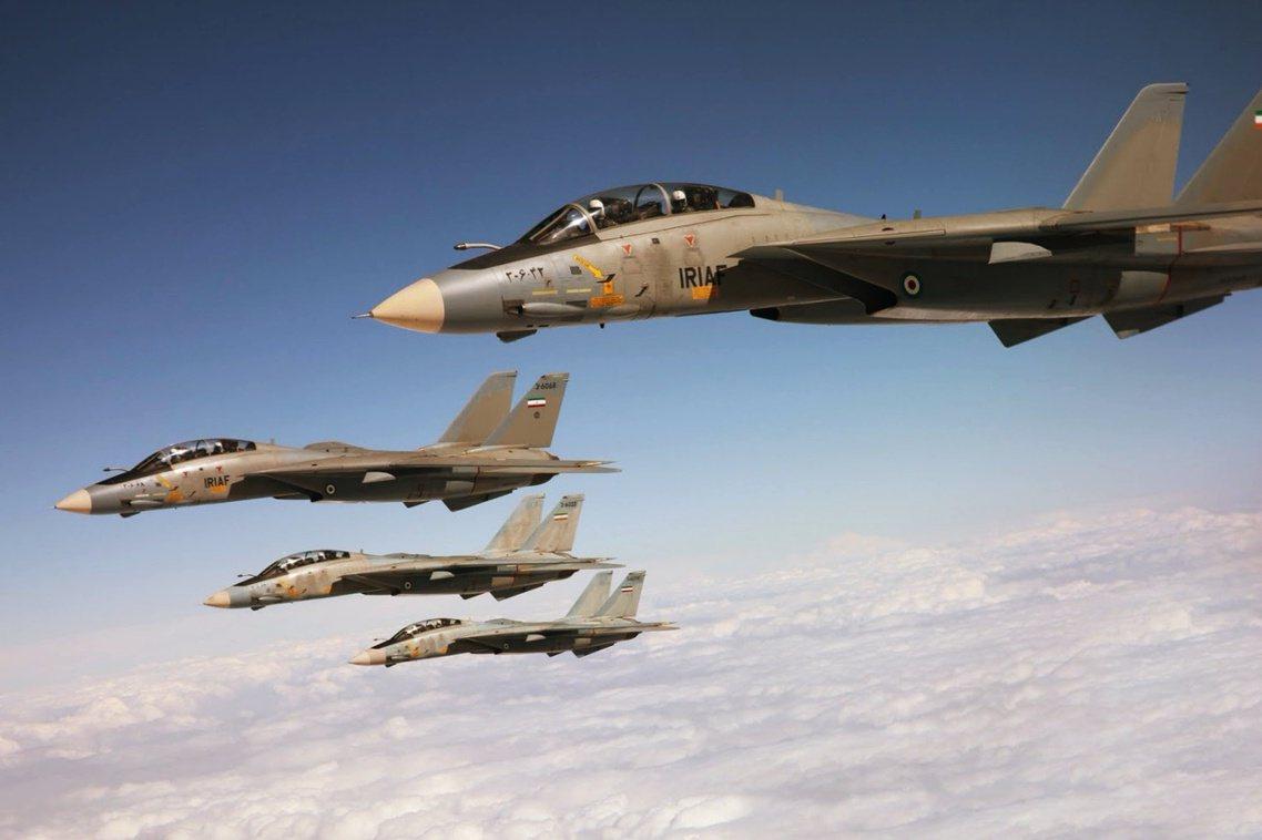 伊朗空軍的F-14戰鬥機,據悉不斷在兩伊邊界出動。 圖/法斯社