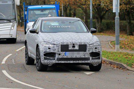 小改款Jaguar F-Pace測試現身 擁有更美型外觀以及油電動力