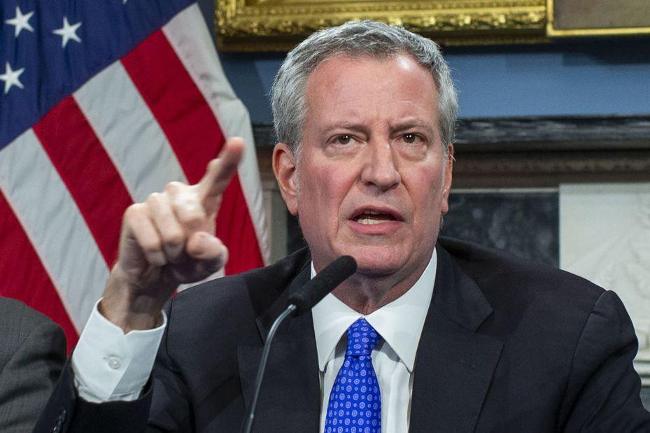 美國主要城市提高戒備,圖為紐約市長白思豪。法新社