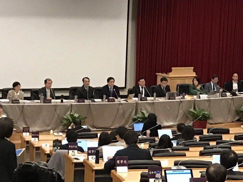 台大今天舉行校務會議。記者馮靖惠/攝影