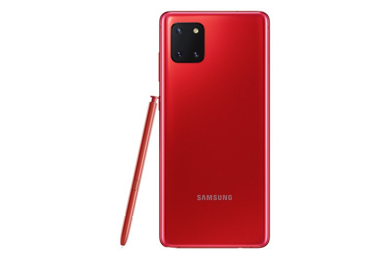 Samsung Galaxy Note10 Lite的星環紅色絕美。圖/三星提供