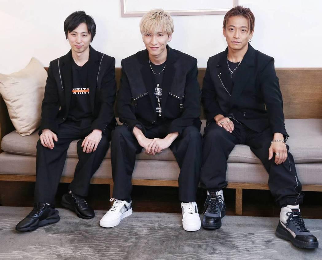 涼平(左起)、慶太、龍一作風親切零距離。記者曾原信/攝影