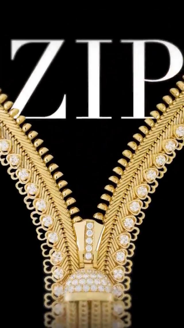 緣起於1938年的Zip項鏈,這回在官方影片中,親身解密。圖╱翻攝自Van ...