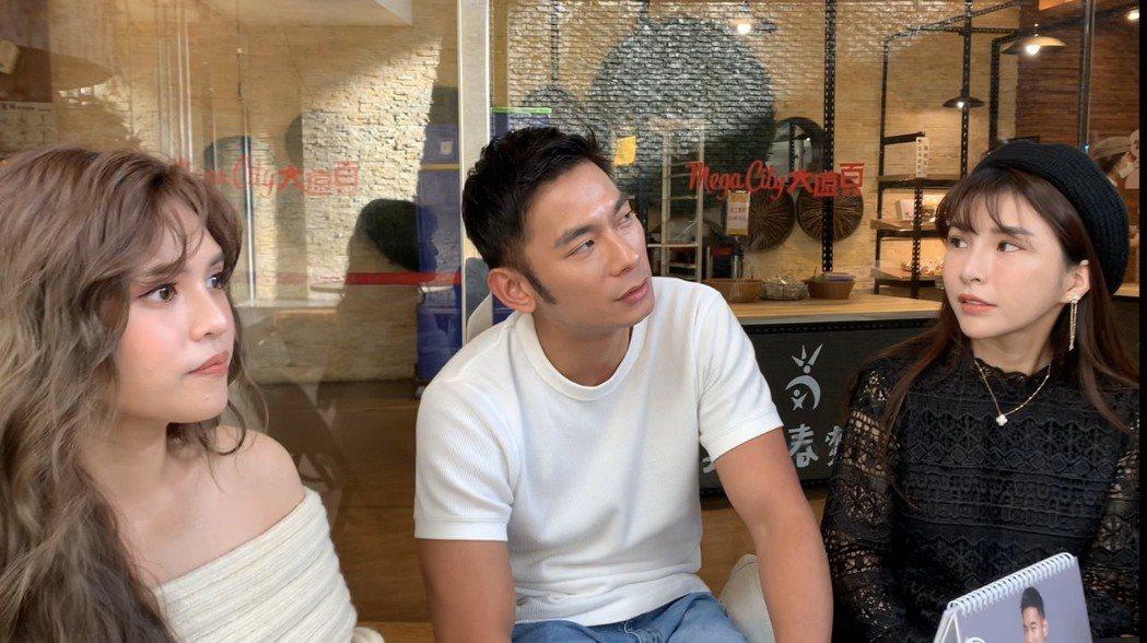 夏宇童(左起)、亮哲、LaLa蘇心甯出席愛心慈善月曆簽名會活動。記者陳慧貞/攝影