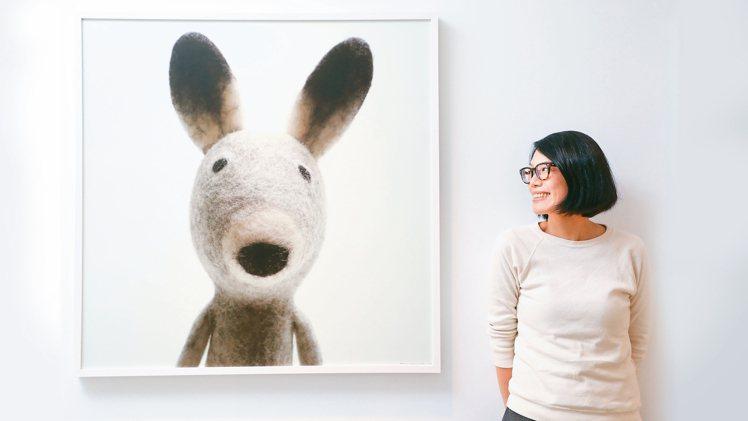 魯燕蓉浸淫羊毛氈創作15年,首辦個展。 攝影/吳致碩