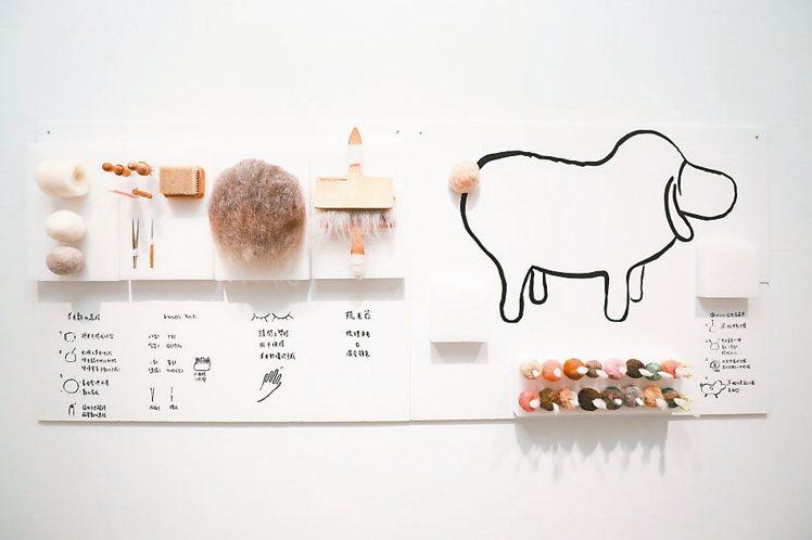 展場還介紹了羊毛氈創作技法。 攝影/吳致碩