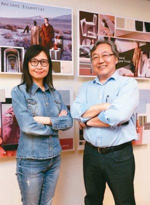 和明紡織執行副總李桂林(左)和明紡織董事長陳富泉(右)