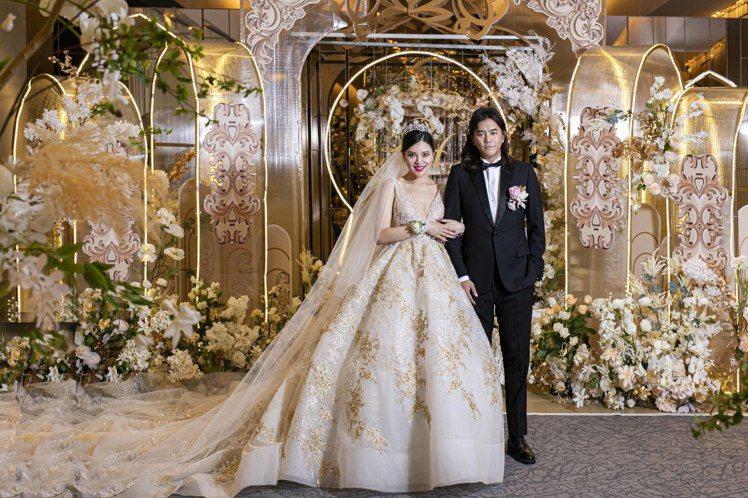知名製作人B2陳彥銘今日舉行婚宴。圖/LinLi Boutique提供