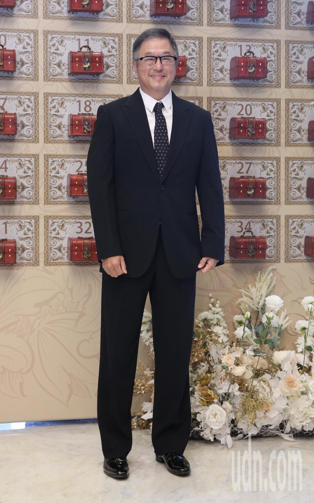 綜藝節目製作人B2中午在寒舍艾美舉行婚宴,製作人王偉忠(圖)到場祝福。記者許正宏...