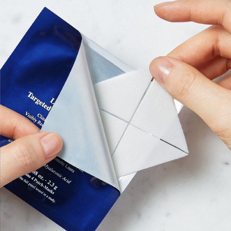 Kiehl's契爾氏六胜肽精準撫紋三角面膜/六張四片/1,300元。圖/Kieh...