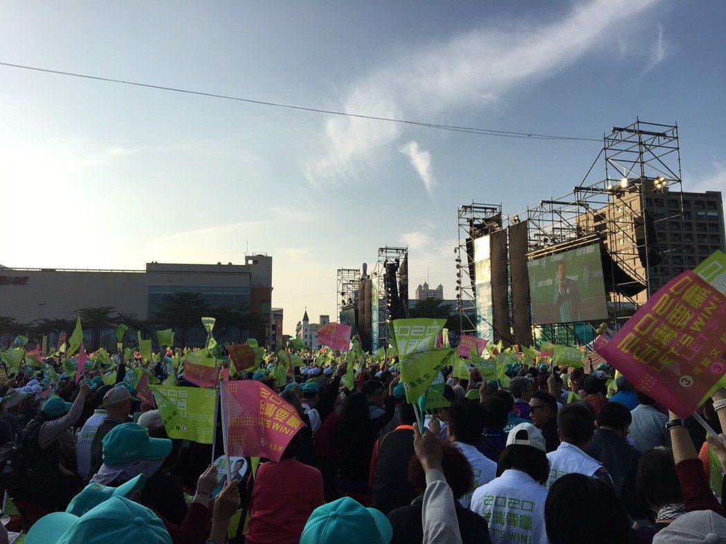 民進黨下午在台南舉辦「台南拚第一、台灣全勝利」造勢活動。記者周佑政/攝影