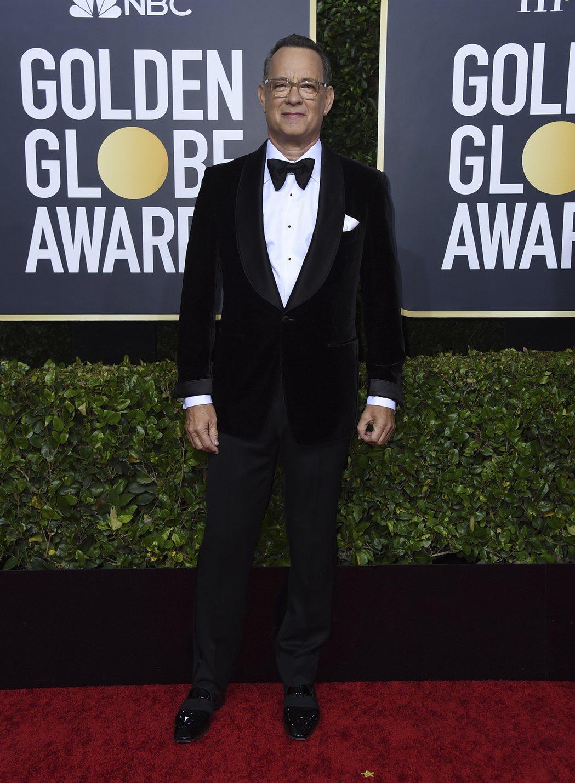 湯姆漢克斯獲金球獎特別成就獎。 圖/美聯社