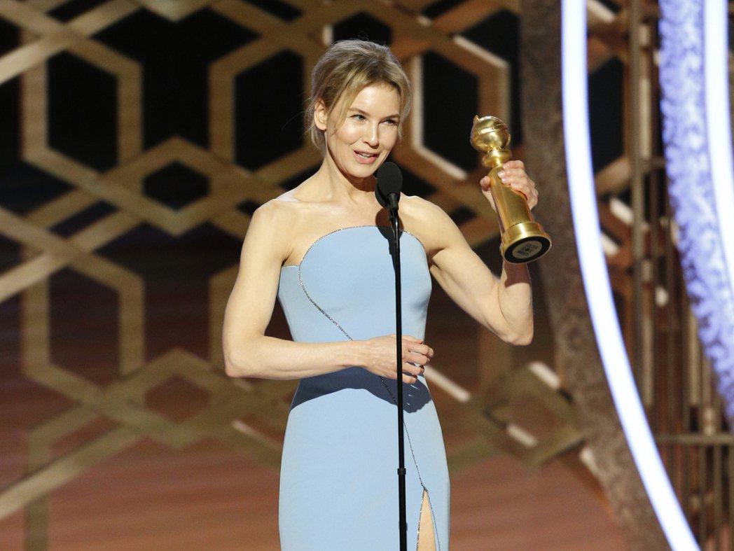 芮妮齊薇格以「茱蒂」獲得第77屆金球獎戲劇類最佳女主角獎。 圖/美聯社