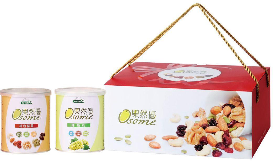 熱銷排名的果然優堅葡禮盒。統一生機/提供