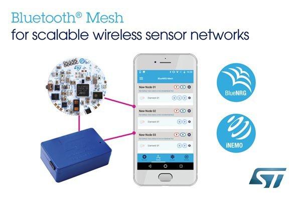 意法半導體解開Bluetooth Mesh全功能,賦予可擴充的無線感測器網路。...