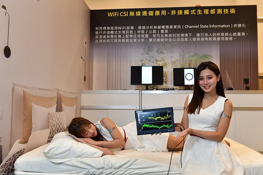 工研院將於CES 2020展中展出「智慧睡眠科技」,透過低功率的WiFi設備,可...