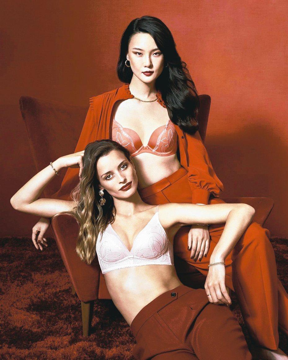「開運內衣」是新年必備的迎春時尚行頭,喜氣洋洋的紅色系更是首選款。 圖/黛安芬提供