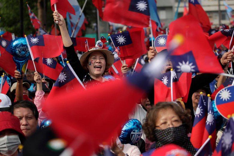 1月4日,韓國瑜台南大造勢。 圖/歐新社