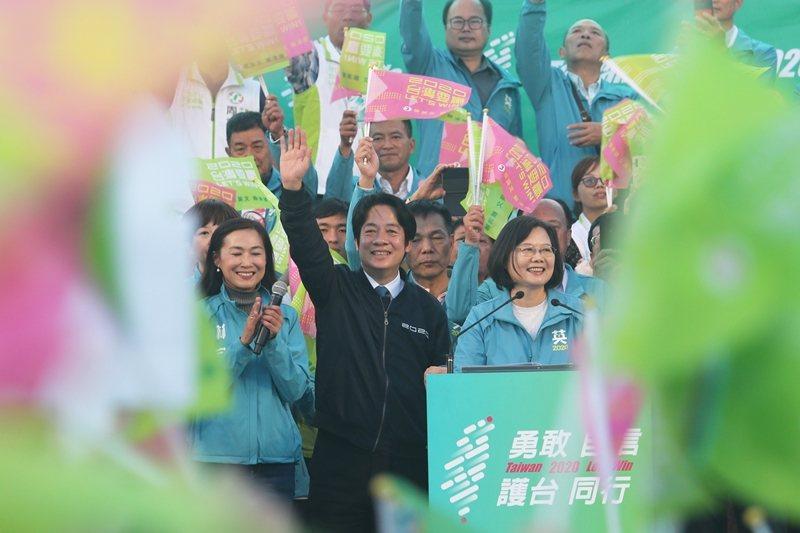台灣正副總統候選人蔡英文、賴清德。 圖/美聯社