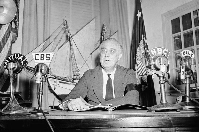 1942年,時任美國總統的羅斯福。 圖/美聯社