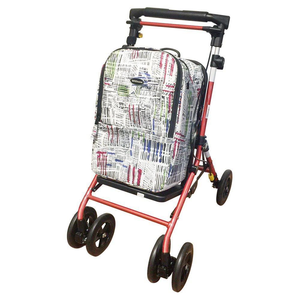 【Withone】全新頂級散步輔行購物車Marche-胭脂紅