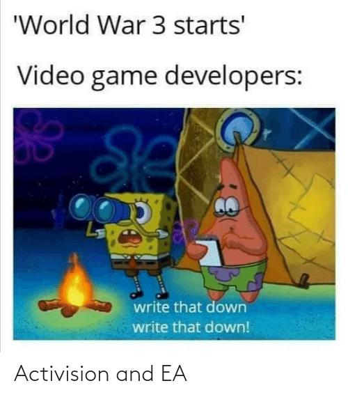 各大遊戲開發商: