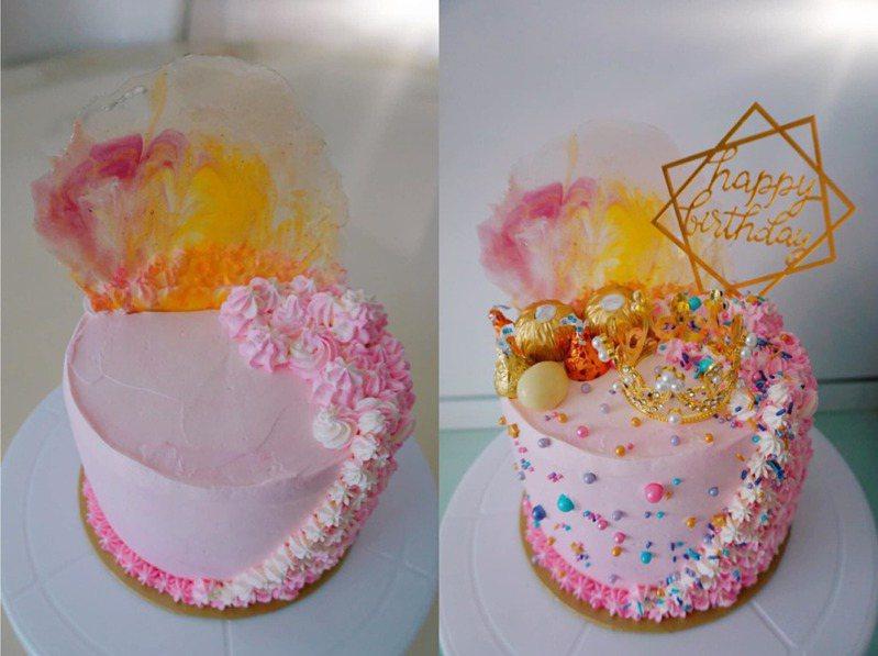 氣炸鍋「夢幻蛋糕」成品曝光,吸引不少網友目光。圖擷自facebook