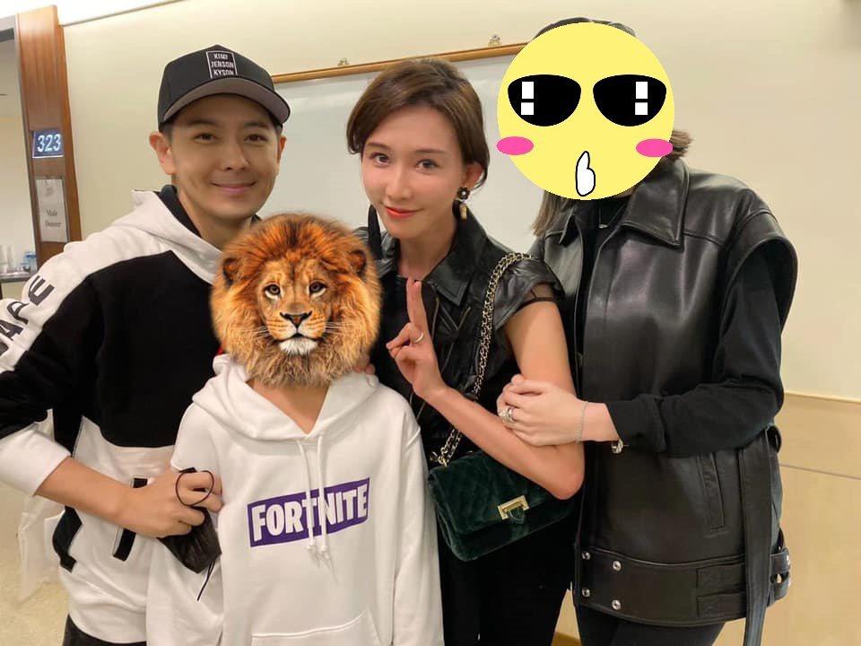 林志穎與老婆陳若儀帶著兒子Kimi觀賞蔡依林演唱會,在後台巧遇林志玲。 圖/擷自