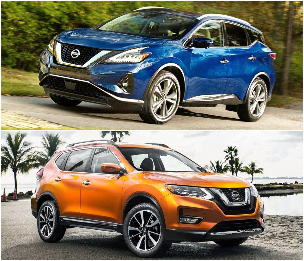 Murano(上)和Rogue(下)這兩款SUV主力銷售也不如預期。 圖/Nis...