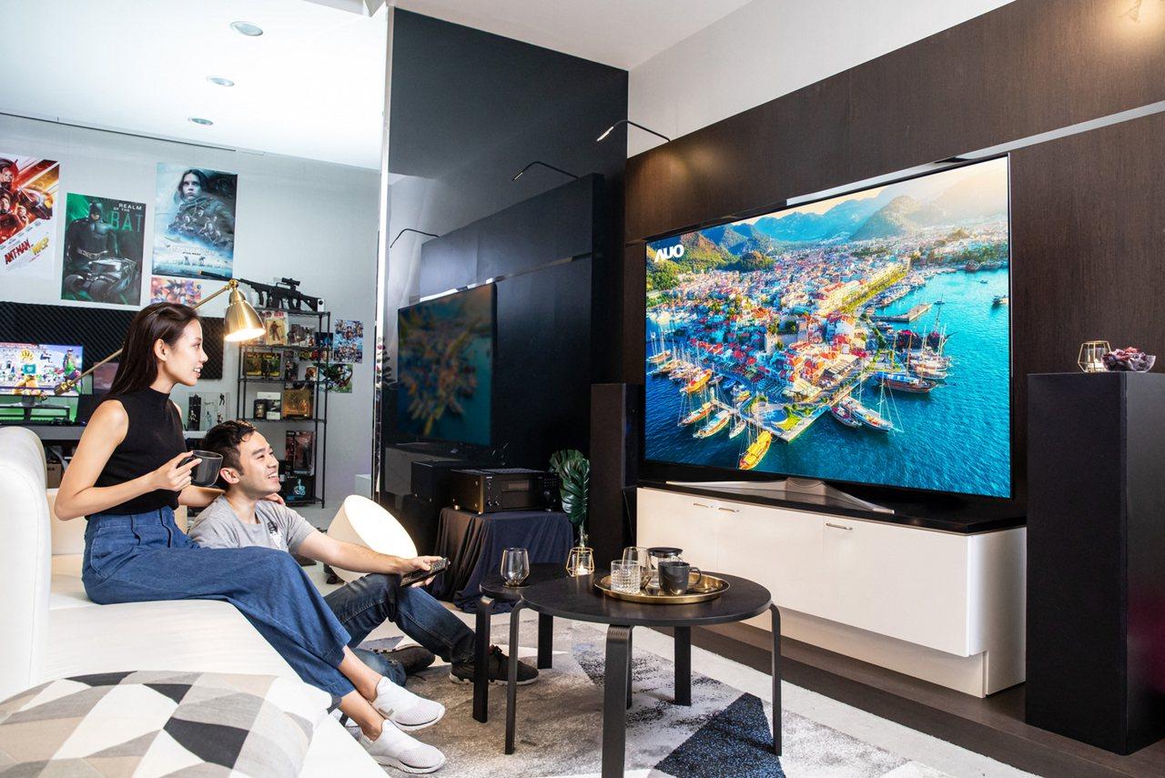 友達85吋8K全平面無邊框ALCD液晶電視面板。友達/提供