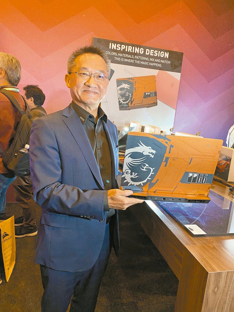 圖為微星總經理江勝昌。 聯合報系資料照片/記者吳凱中攝影