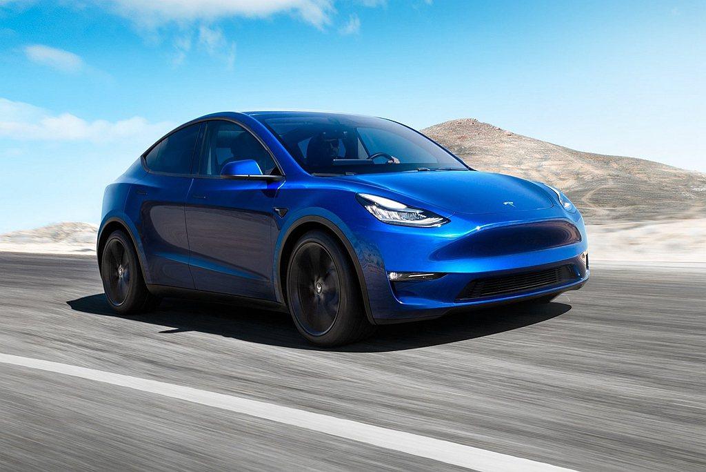 特斯拉Model Y中國開始預售,最入門車型不用200萬台幣就能入手。 圖/Te...